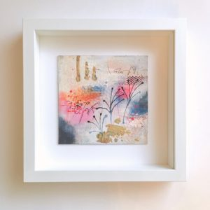 MMB 15 19022 F 300x300 - Small, bright abstract mixed painting in white frame (08)