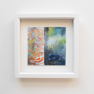 DSC 6068 300x300 - Framed small, multicoloured abstract mixed media art (03)