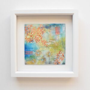 DSC 6072 300x300 - Small, framed, cream and pink mixed media abstract art (22)